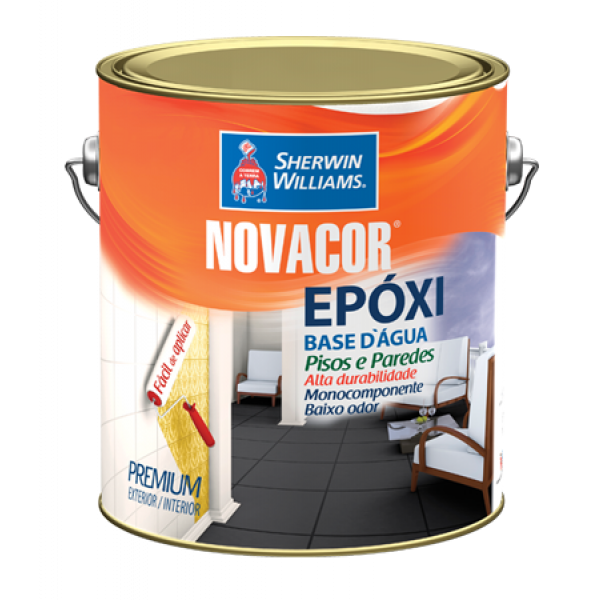 Tinta Epoxi Novacor Branco 100 N9.5 3.6L - Sherwin Williams