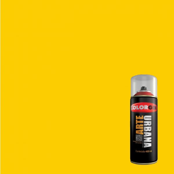 Tinta Spray Fosco Arte Urbana Amarelo Sol 400ml - Colorgin