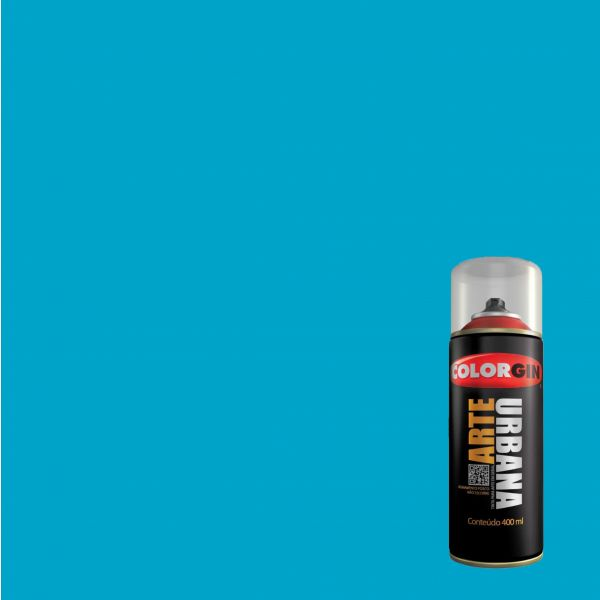 Tinta Spray Fosco Arte Urbana Azul Celeste 400ml - Colorgin