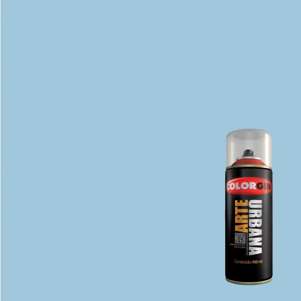 Tinta Spray Fosco Arte Urbana Azul Chuva 400ml - Colorgin