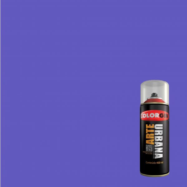 Tinta Spray Fosco Arte Urbana Azul Miro 400ml - Colorgin