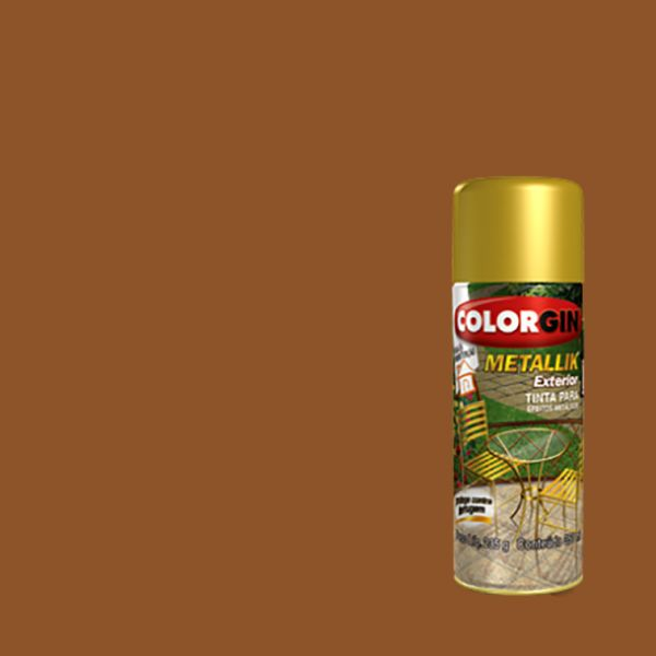 Tinta Spray Metallik Exterior  Cobre 350ml - Colorgin
