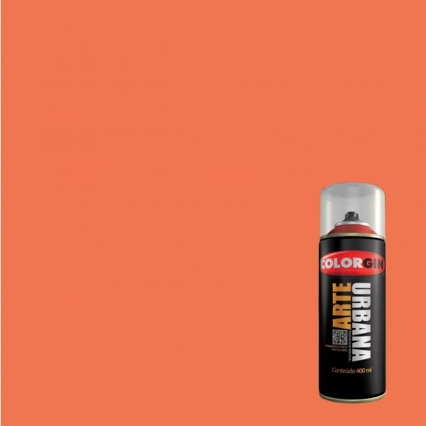 Tinta Spray Fosco Arte Urbana Laranja 901 400ml - Colorgin