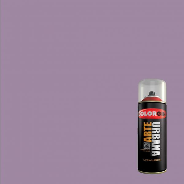 Tinta Spray Fosco Arte Urbana Lilas 400ml - Colorgin