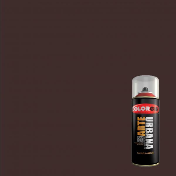 Tinta Spray Fosco Arte Urbana Marrom Cafe 400ml - Colorgin