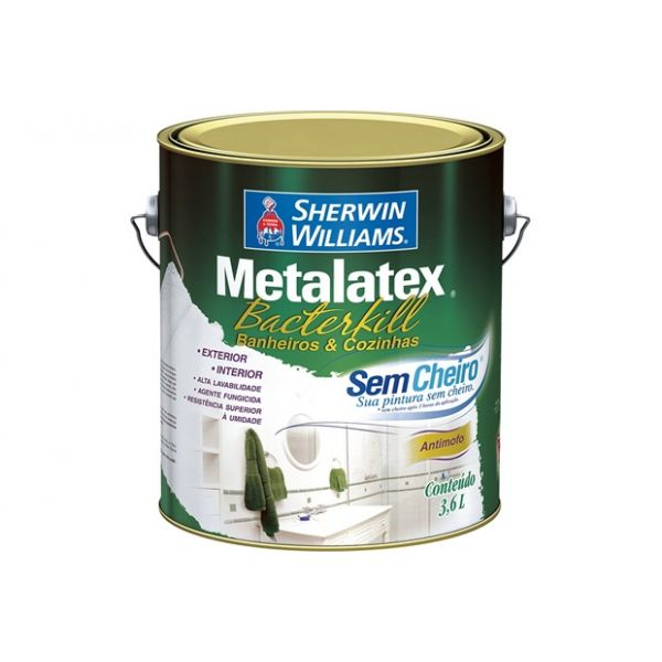Bacterkill Semi Brilho Branco Sherwin Williams 3.6L