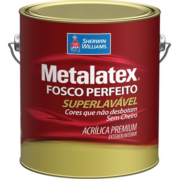Tinta Acrílica Fosco Metalatex Branco 3.6L - Sherwin Williams
