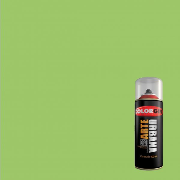 Tinta Spray Fosco Arte Urbana Verde Abacate 400ml - Colorgin
