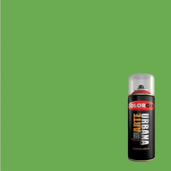 Tinta Spray Fosco Arte Urbana Verde Ervilha 400ml - Colorgin