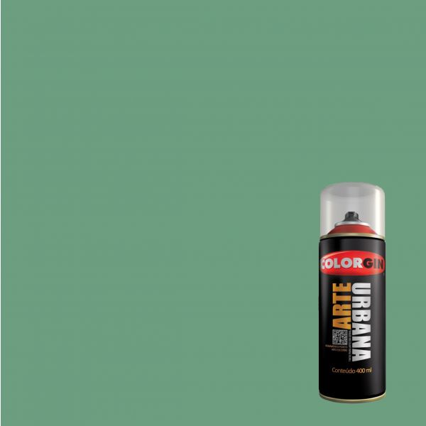 Tinta Spray Fosco Arte Urbana Verde Nautico 400ml - Colorgin