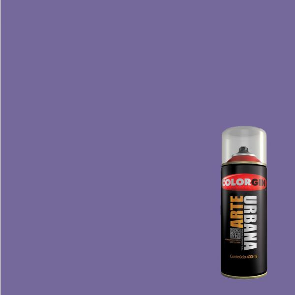 Tinta Spray Fosco Arte Urbana Violeta 400ml - Colorgin