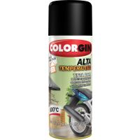 Tinta Spray Alta Temperatura Preto 300ml - Colorgin