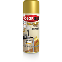 Tinta Spray Metallik Cromado  300ml - Colorgin