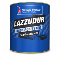 Tinta Poliéster Lazzudur Prata Light Metalico 900ml - Lazzuril